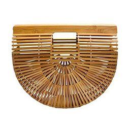 miuco womens bamboo handbag handmade large tote bag size small   Walmart (US)