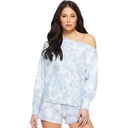Sofia Jeans by Sofia Vergara Women's One Shoulder Tie Dye Lightweight Shirt   Walmart (US)