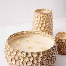 Honeycomb Textured Glass Candle | Anthropologie (US)