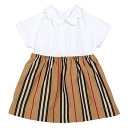 Burberry Girl's Janine Icon Stripe Bodysuit. Size 1-18 Months | Neiman Marcus
