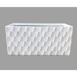 KANTE Large 31.5 in. L Pure White Lightweight Concrete Retro Rectangle Outdoor Planter-RF0203B-C8...   The Home Depot