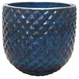 Trendspot 18 in. Blue Pinequilt Ceramic Planter-CR00869S-180M - The Home Depot   The Home Depot