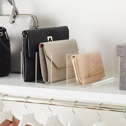 Acrylic 4-Section Purse Storage Organizer | The Container Store