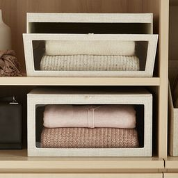 Linen Cambridge Drop-Front Sweater Box | The Container Store