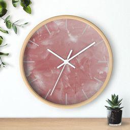 Wall clock Rose Quartz Print | Etsy | Etsy (UK)