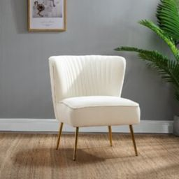 "Willa Arlo Interiors Alfredo 26"" Wide Tufted Velvet Side Chair | Wayfair North America"