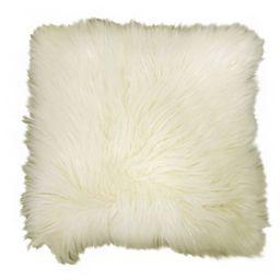 "Better Homes & Gardens Arctic Faux Fur Decorative Throw Pillow 16""x16"", Ivory, 1 pc, Square | Walmart (US)"