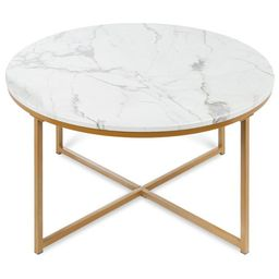 Best Choice Products 36in Faux Marble Modern Living Room Round Accent Side Coffee Table w/Metal F... | Walmart (US)
