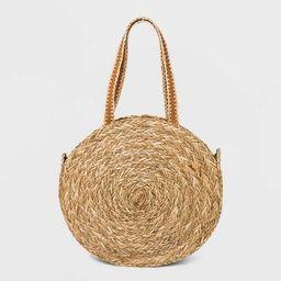 Straw Circle Tote Handbag - Universal Thread™ Natural   Target
