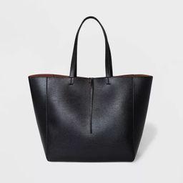 Reversible Tie Closure Tote Handbag - A New Day™ | Target