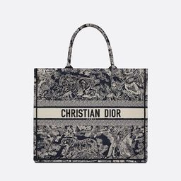 Dior Book Tote Blue Toile de Jouy Reverse Embroidery - Bags - Woman | DIOR | Christian Dior (US)