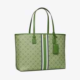 T Monogram Coated Canvas Tote Bag | Tory Burch (US)