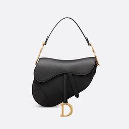 Saddle Bag Black Grained Calfskin - Bags - Women's Fashion | DIOR | Christian Dior (US)