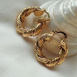 Gold Twisted Hoop Earrings  Bold Gold Hoop Earrings  Chunky | Etsy | Etsy (UK)