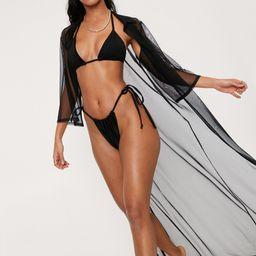 Maxi Mesh Beach Shirt Dress | NastyGal