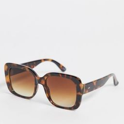 ASOS DESIGN recycled frame oversized 70s square sunglasses in caramel tort with brown lens | ASOS (Global)
