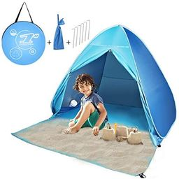 FBSPORT Beach Tent,X-Large/Standard Size Pop Up Beach Shade, UPF 50+ Sun Shelter Instant Portable...   Amazon (US)