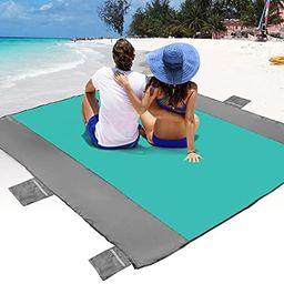 POPCHOSE Sandfree Beach Blanket, Large Sandproof Beach Mat for 4-7 Adults, Waterproof Pocket Picn...   Amazon (US)