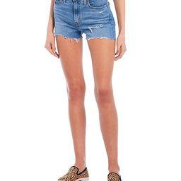 Levi's® High Rise Frayed Hem Shorts   Dillards
