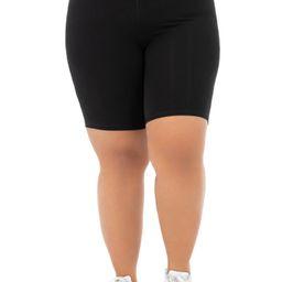 Athletic Works Women's Plus Size Cotton Blend Core Bike Short | Walmart (US)