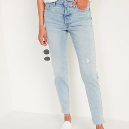 High-Waisted O.G. Straight Button-Fly Cut-Off Jeans for Women | Old Navy (US)