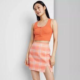 Women's Notch Front A-Line Mini Skirt - Wild Fable™ | Target