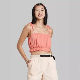 Women's Super Cropped Bubble Tank Top - Wild Fable™ | Target