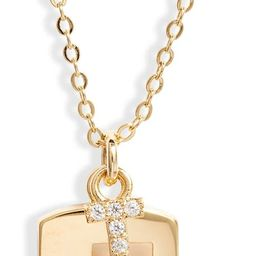 Initial Dog Tag Pendant Necklace   Nordstrom