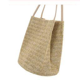 Women Bags Straw Woven Shoulder Handbag Tote Messenger Satchel Bag Summer Holiday Beach Bags   Walmart (US)