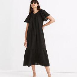 Embroidered Smocked Midi Dress | Madewell