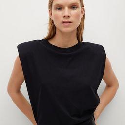 Shoulder pad t-shirt   MANGO (US)