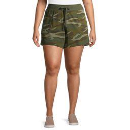 Terra & Sky Women's Plus Size Knit Shorts   Walmart (US)