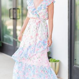 Need You Now Pink Floral Maxi Dress | The Mint Julep Boutique
