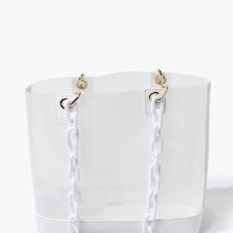 Transparent Chain-Strap Tote Bag   Forever 21 (US)