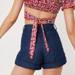 Floral Puff Sleeve Tie Back Crop Top | NastyGal