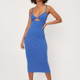 Strappy Back Bodycon Rib Midi Dress | NastyGal
