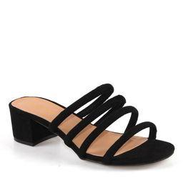 Bamboo Swell-01 Block heel Women's Slide Sandals in Black | Walmart (US)