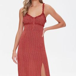 Ornate Print Ruffle-Trim Dress | Forever 21 (US)