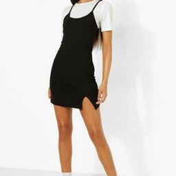 Tall 2-in-1 Slip Dress | Boohoo.com (US & CA)