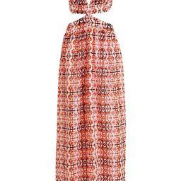 Mirror Print Cut Out Maxi Beach Dress | Boohoo.com (US & CA)