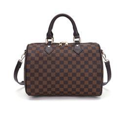 TWENTY FOUR Checkered Tote Shoulder Bag with Inner Pouch - PU Vegan Leather Shoulder Handbags Fas... | Walmart (US)