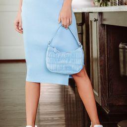 Modern Stroll Light Blue Ruched Mini Shoulder Bag | Lulus (US)
