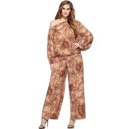 Sofia Jeans by Sofia Vergara Plus Size Animal Print Palazzo Pants | Walmart (US)