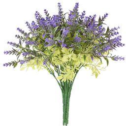 Coolmade 5 Pcs Artificial Lavender Flowers Bouquet Fake Flocked Plant Purple Fake Flower Decor Br... | Walmart (US)
