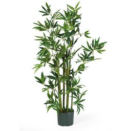 Nearly Natural 4ft. Bamboo Silk Plant, Green | Walmart (US)