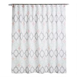 Multicolor Geometric Jacquard Talia Shower Curtain | World Market