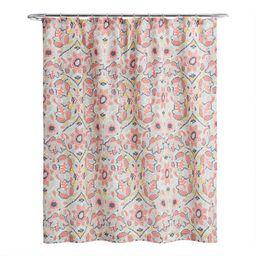 Multicolor Floral Margherita Shower Curtain | World Market