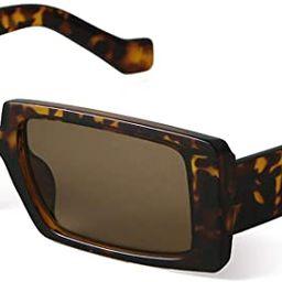 GIFIORE Rectangle Sunglasses for Women Retro Fashion Sunglasses UV 400 Protection Wide Frame Eyew... | Amazon (US)