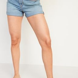 Mid-Rise Light-Wash Jean Shorts for Women -- 3-inch inseam   Old Navy (US)