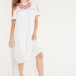 Embroidered Midi Swing Dress for Women   Old Navy (US)